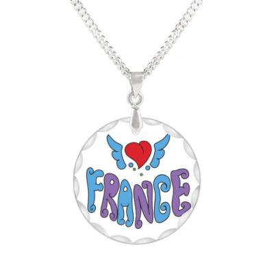 Кулон  Я люблю Францию