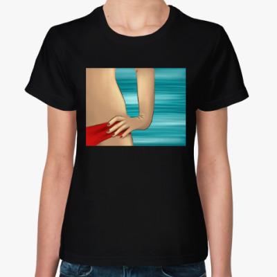 Женская футболка память о жарком лете