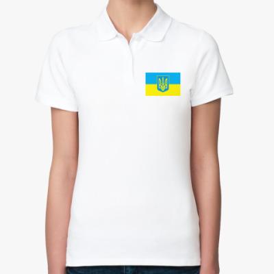 Женская рубашка поло 'Украина'
