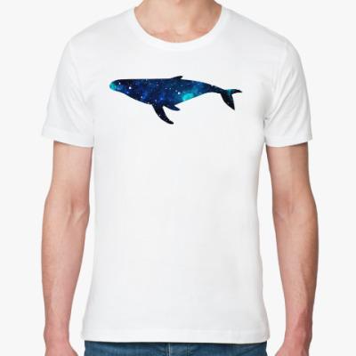 Футболка из органик-хлопка Космический кит