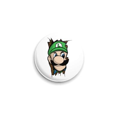 Значок 25мм Луиджи Марио