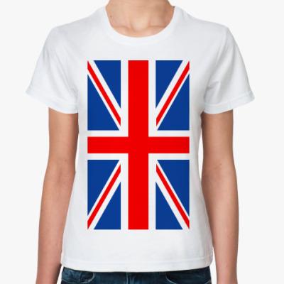 Классическая футболка Английский флаг