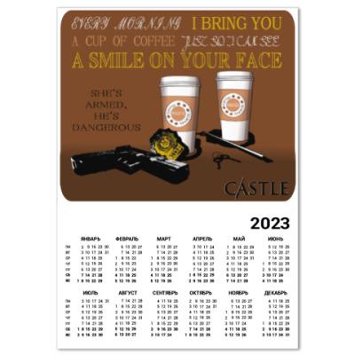 Календарь Castle coffee time