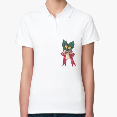 Женская рубашка поло Рождественский колокольчик