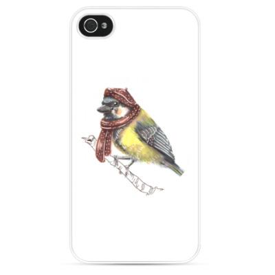 Чехол для iPhone Иллюстрация с птицей