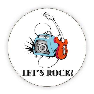 Костер (подставка под кружку) Let's Rock!
