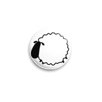 Значок 25мм sheep blank