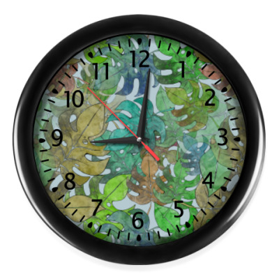 Настенные часы Листья, паттерн