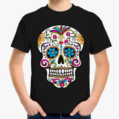 Детская футболка Мексиканский череп Calavera