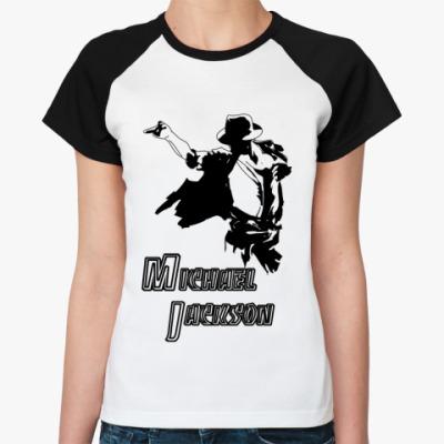Женская футболка реглан 'М.Джексон'.
