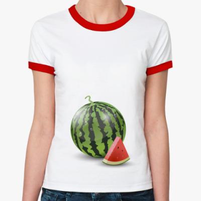 Женская футболка Ringer-T Беременяшкам)