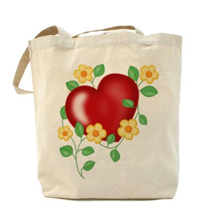 Сумка Сердце и цветы