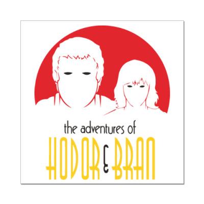 Наклейка (стикер) Hodor & Bran