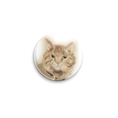 Значок 25мм котяра