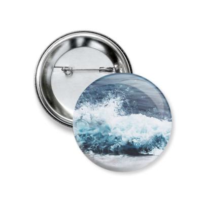 Значок 37мм Отдых,море,лето,счастье,вода,water,sea
