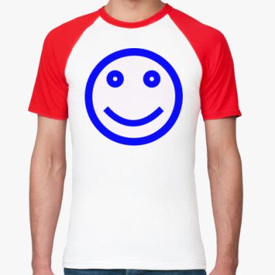 Футболка реглан улыбка