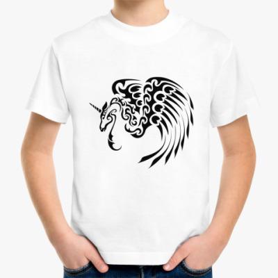 Детская футболка единорог