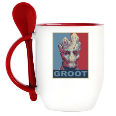 Кружка с ложкой Groot