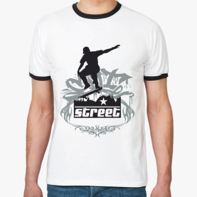 Футболка Ringer-T   Skateboard