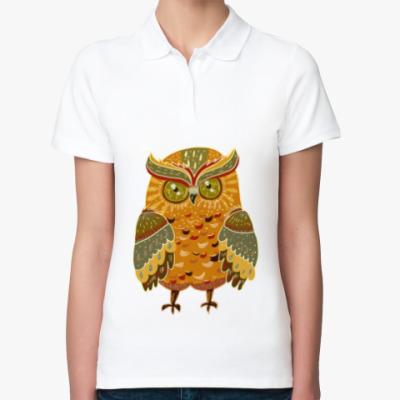 Женская рубашка поло Яркая сова