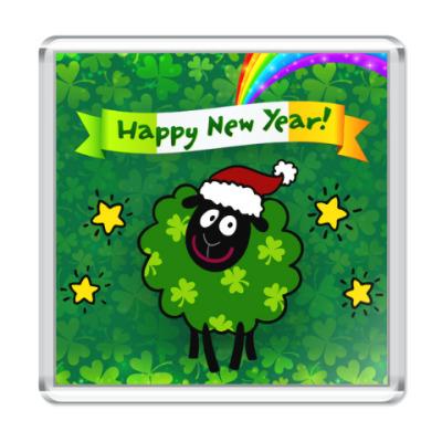 Магнит Новогодняя овечка