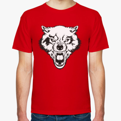 Футболка Злой волк