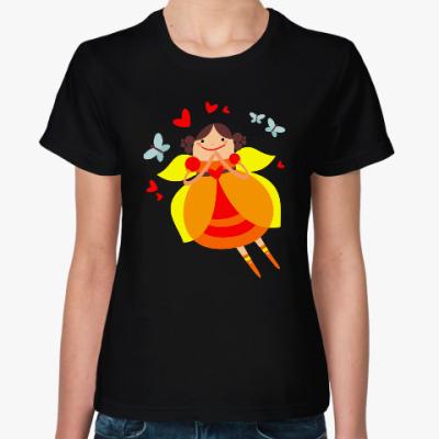 Женская футболка На крыльях любви