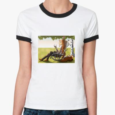Женская футболка Ringer-T  «Сказочный Леший»