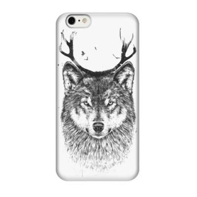 Чехол для iPhone 6/6s Волк с рогами