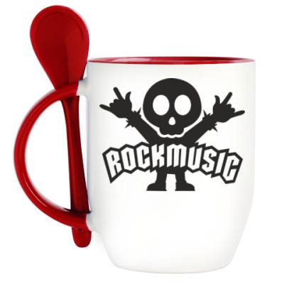 Кружка с ложкой Rockmusic