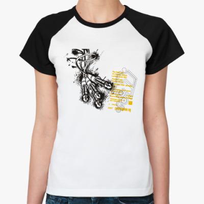 Женская футболка реглан Штекеры