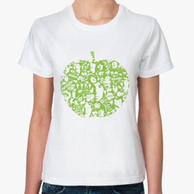 Классическая футболка Beatles Apple  (бел)