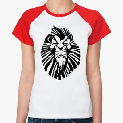 Женская футболка реглан Важный лев