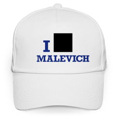 Кепка бейсболка Бейсболка Malevich белая син
