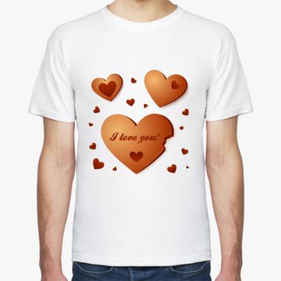 Футболка Шоколадные сердечки