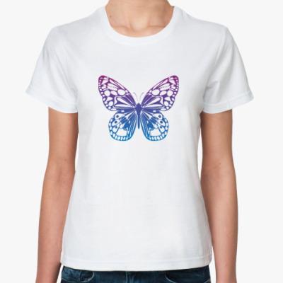 Классическая футболка Бабочка Butterfly Vintage