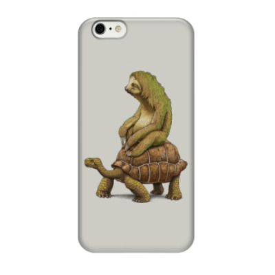 Чехол для iPhone 6/6s Ленивец на черепахе