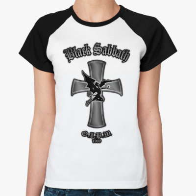 Женская футболка реглан Black Sabbath