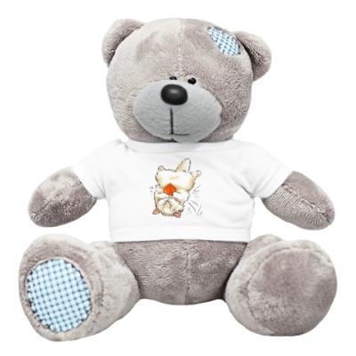 Плюшевый мишка Тедди Котенок с сердцем