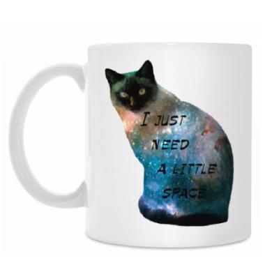 Кружка Котик космический