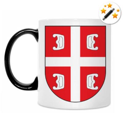 Кружка-хамелеон Сербский щит