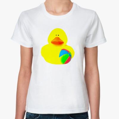 Классическая футболка Просто утка  (с мячом)