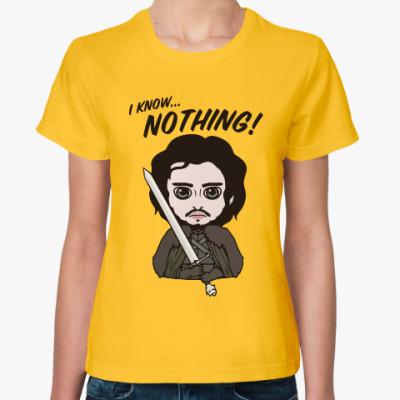 Женская футболка Я ничего не знаю