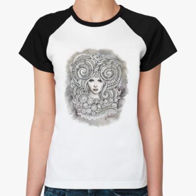Женская футболка реглан 'Овен'