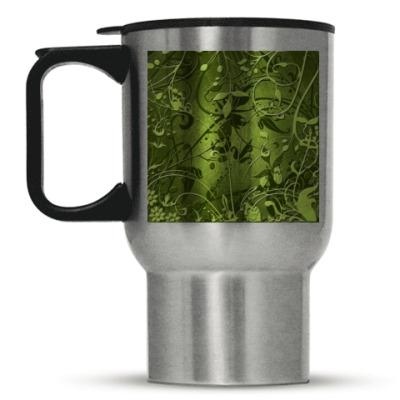 Кружка-термос Травинки
