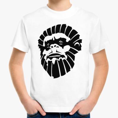 Детская футболка Лицо обезьяны