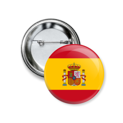 Значок 37мм Испания, Spain