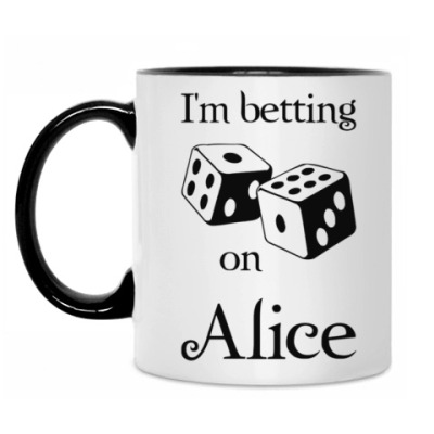 Кружка I'm betting on Alice
