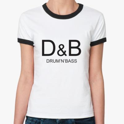 Женская футболка Ringer-T D&B