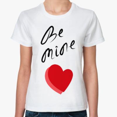Классическая футболка признание в День Валентина/ Валентинка